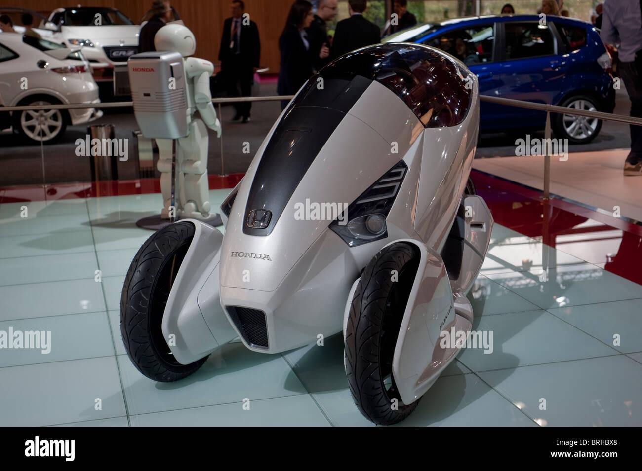 paris france paris car show electric motorcycle concept honda stock photo royalty free. Black Bedroom Furniture Sets. Home Design Ideas