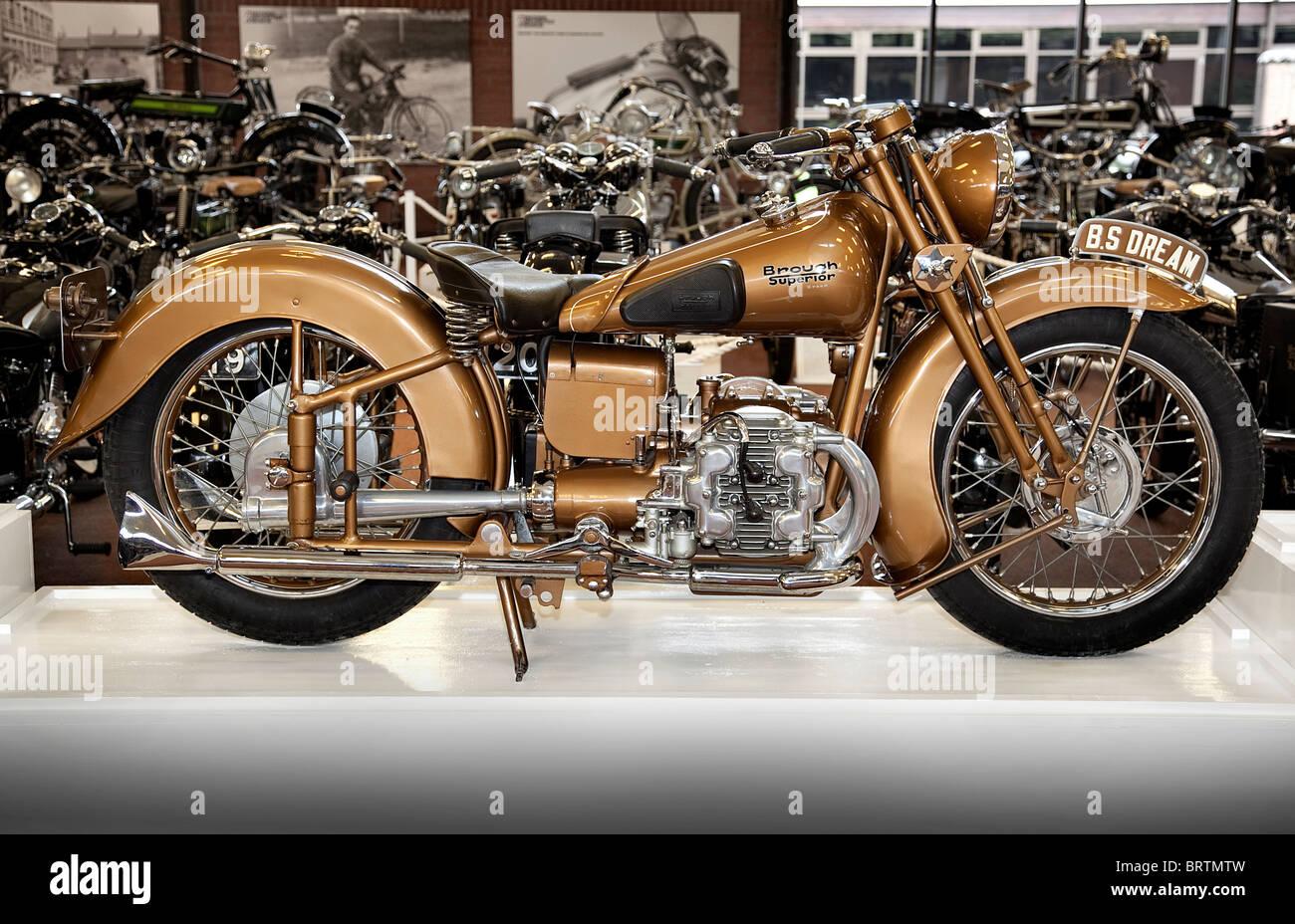 Brough Superior Golden Dream Show Model 1939 Stock Photo