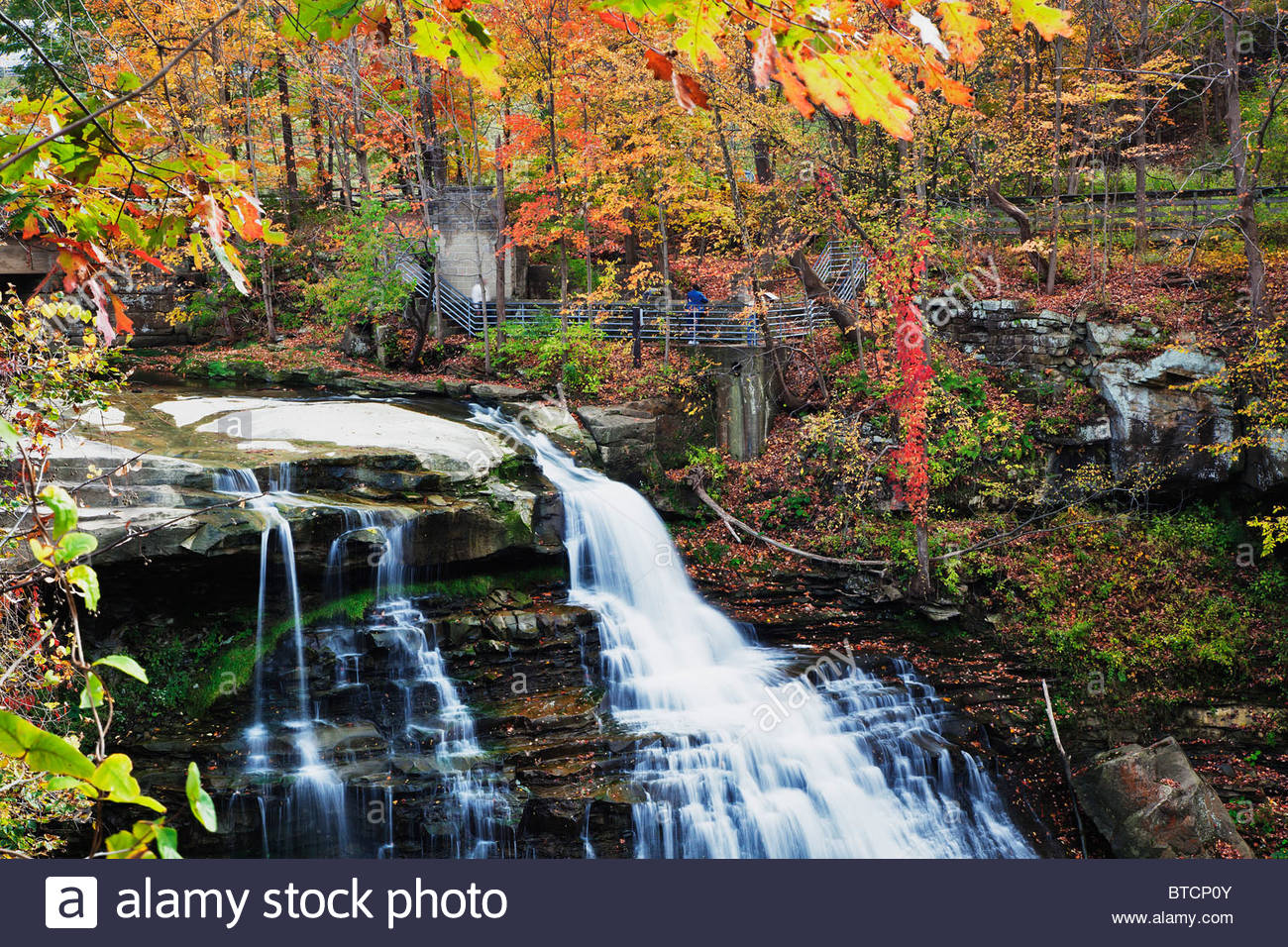 Brandywine Falls in autumn,Cuyahoga Valley National Park, Cleveland, Ohio Stock Photo