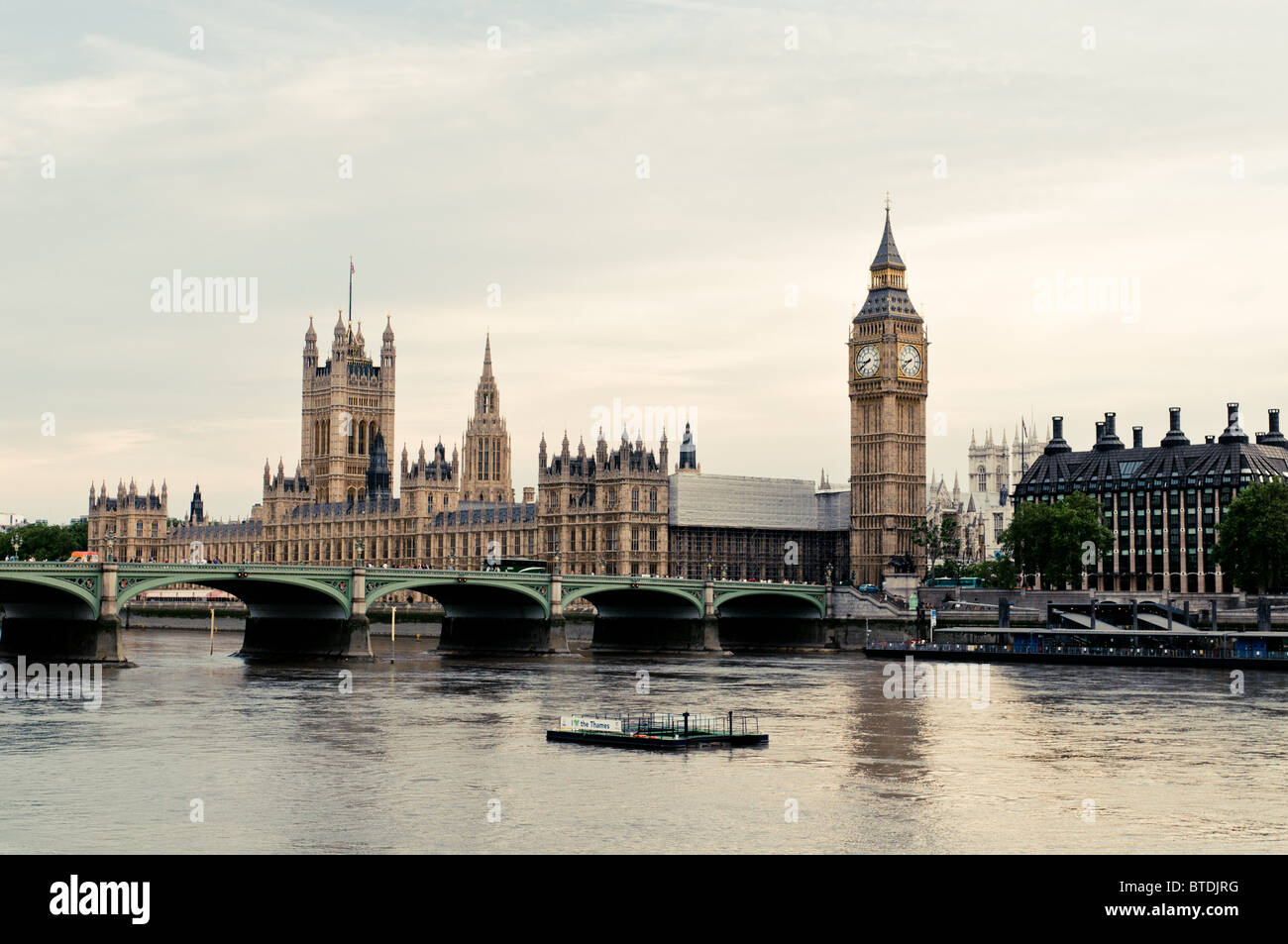 buckingham palace in london england thames river and big ben shown stock photo royalty free. Black Bedroom Furniture Sets. Home Design Ideas