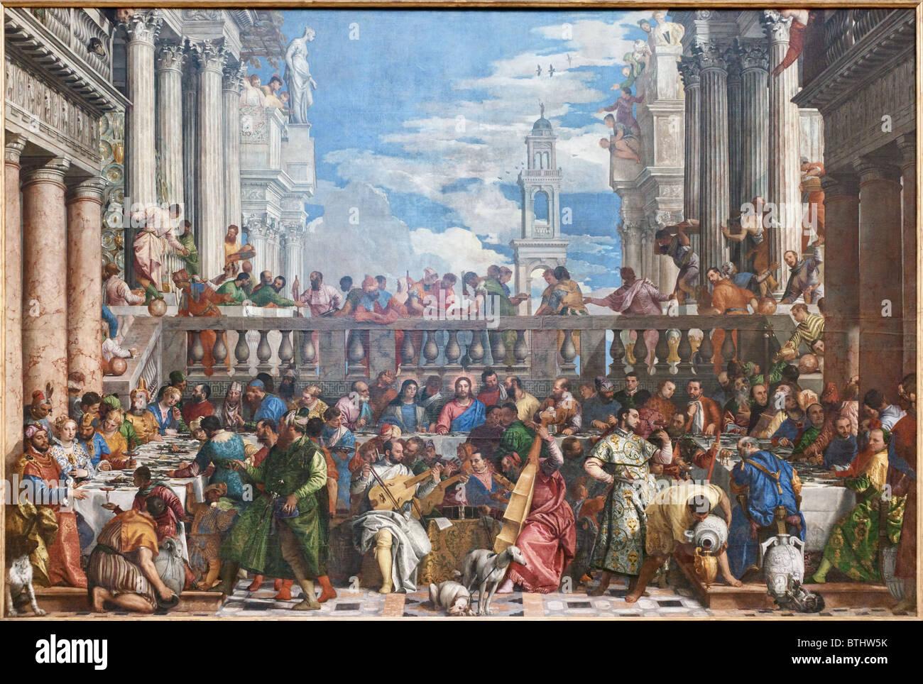 Wedding Feast at Cana Paolo CALIARI VERONESE, Louvre ...
