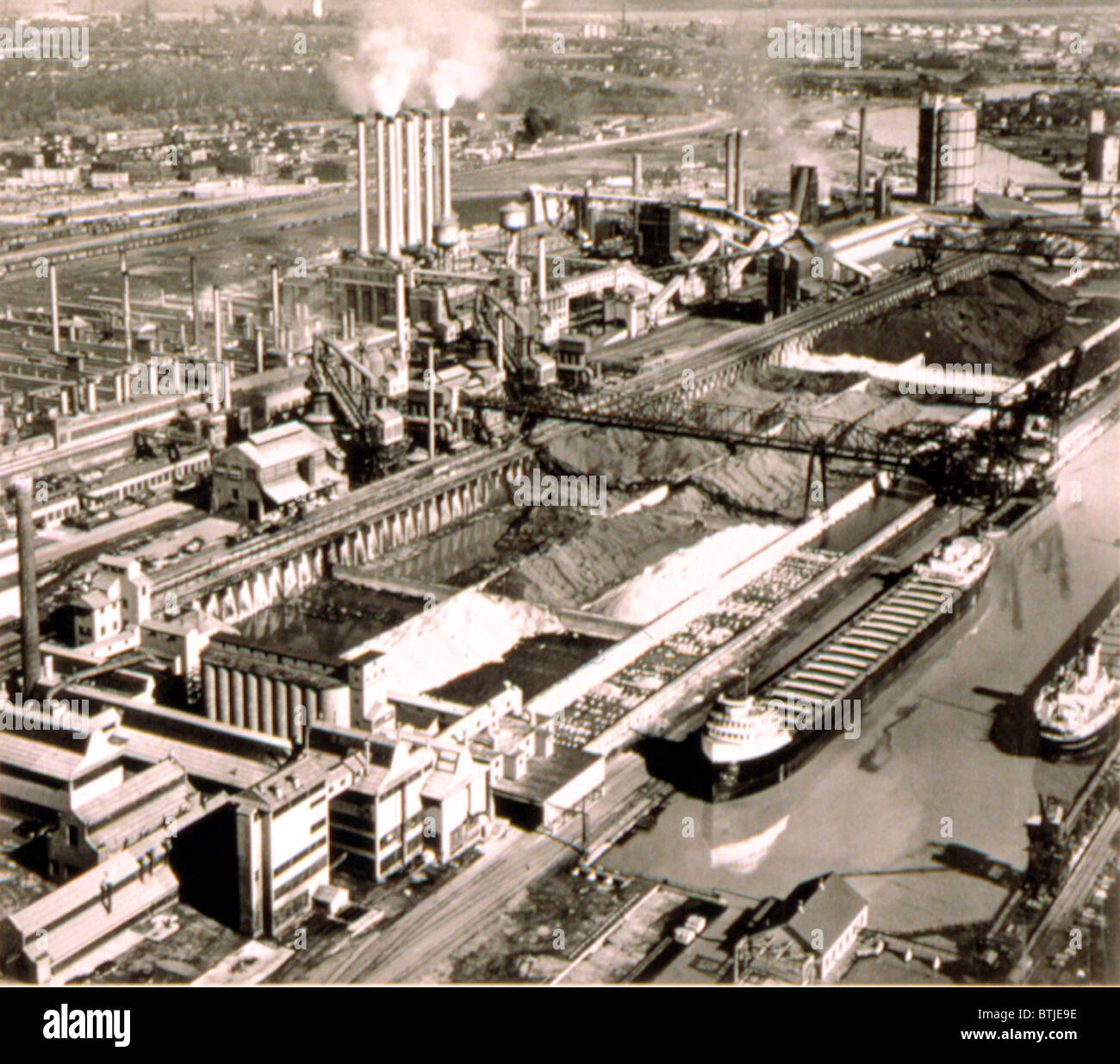 Ford Motor Co River Rouge Plant 1940s Stock Photo