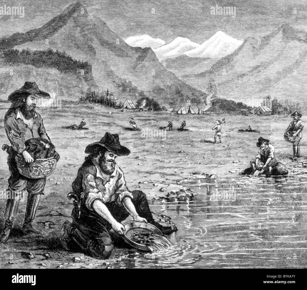 the gold rush panning for gold in california 1849
