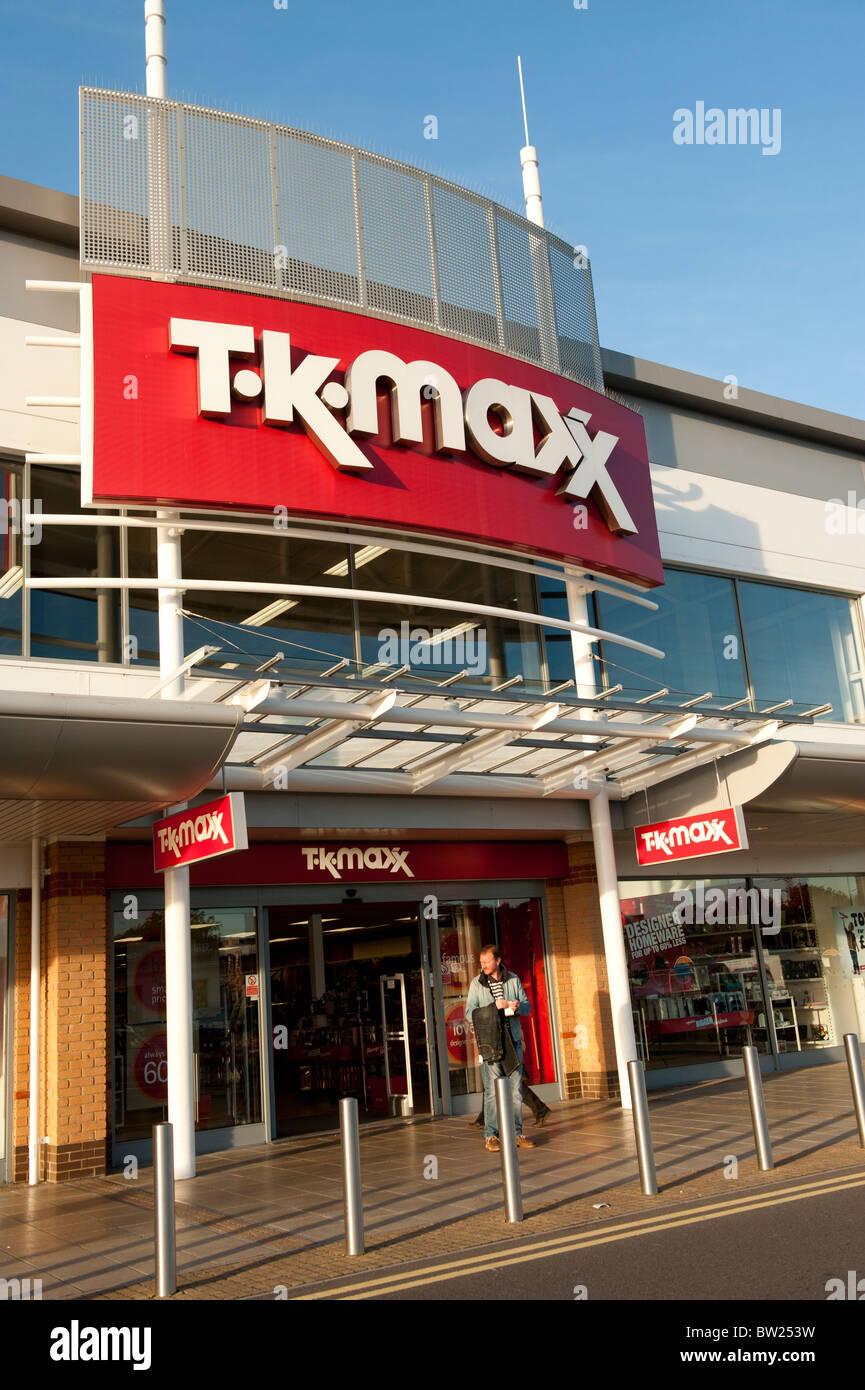 t k maxx discount clothing store trostre retail park
