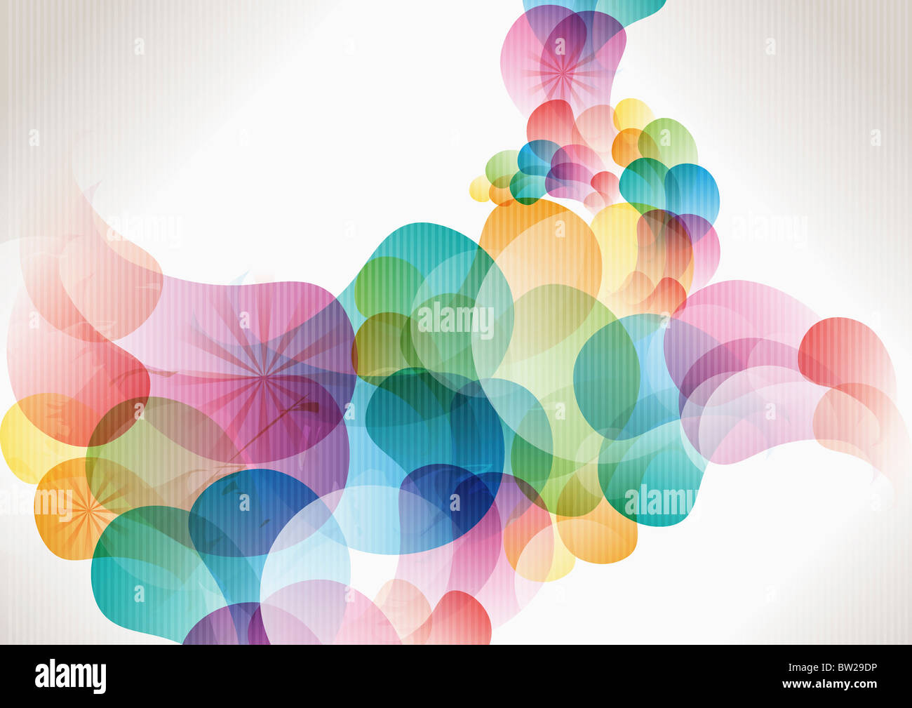 colorful circled pattern Stock Foto