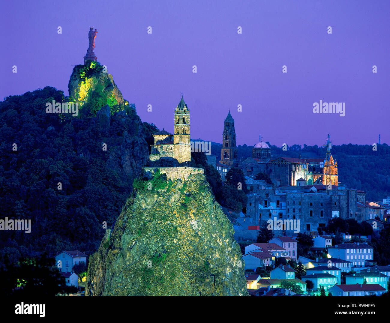 france europe le puy en velay mary statue notre dame our lady de stock photo royalty free image. Black Bedroom Furniture Sets. Home Design Ideas