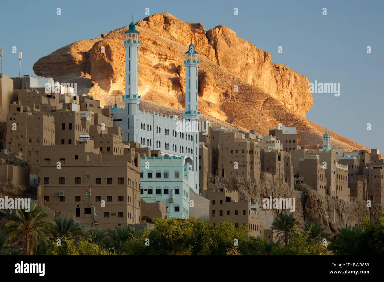 Yemen Al-Hajarayn Wadi Daw'an Region Wadi Hadramaut Hadhramaut Hadramaut South Yemen Arabian Peninsula Middle Stock Photo