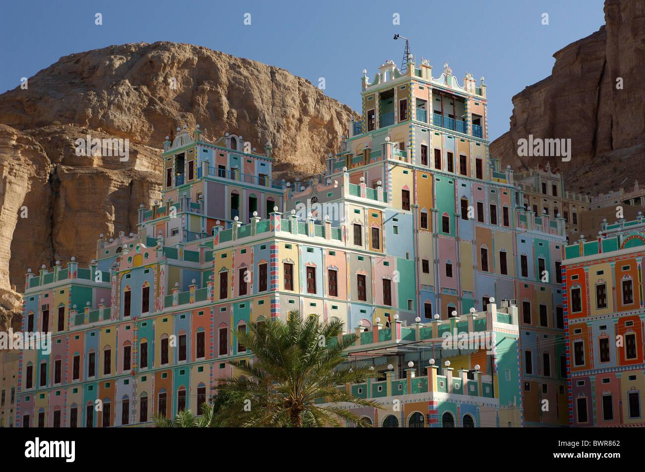 Yemen Khailah Palace Khailah Wadi Hadramaut Hadhramaut Hadramaut South Yemen Arabian Peninsula Middle East Ea Stock Photo