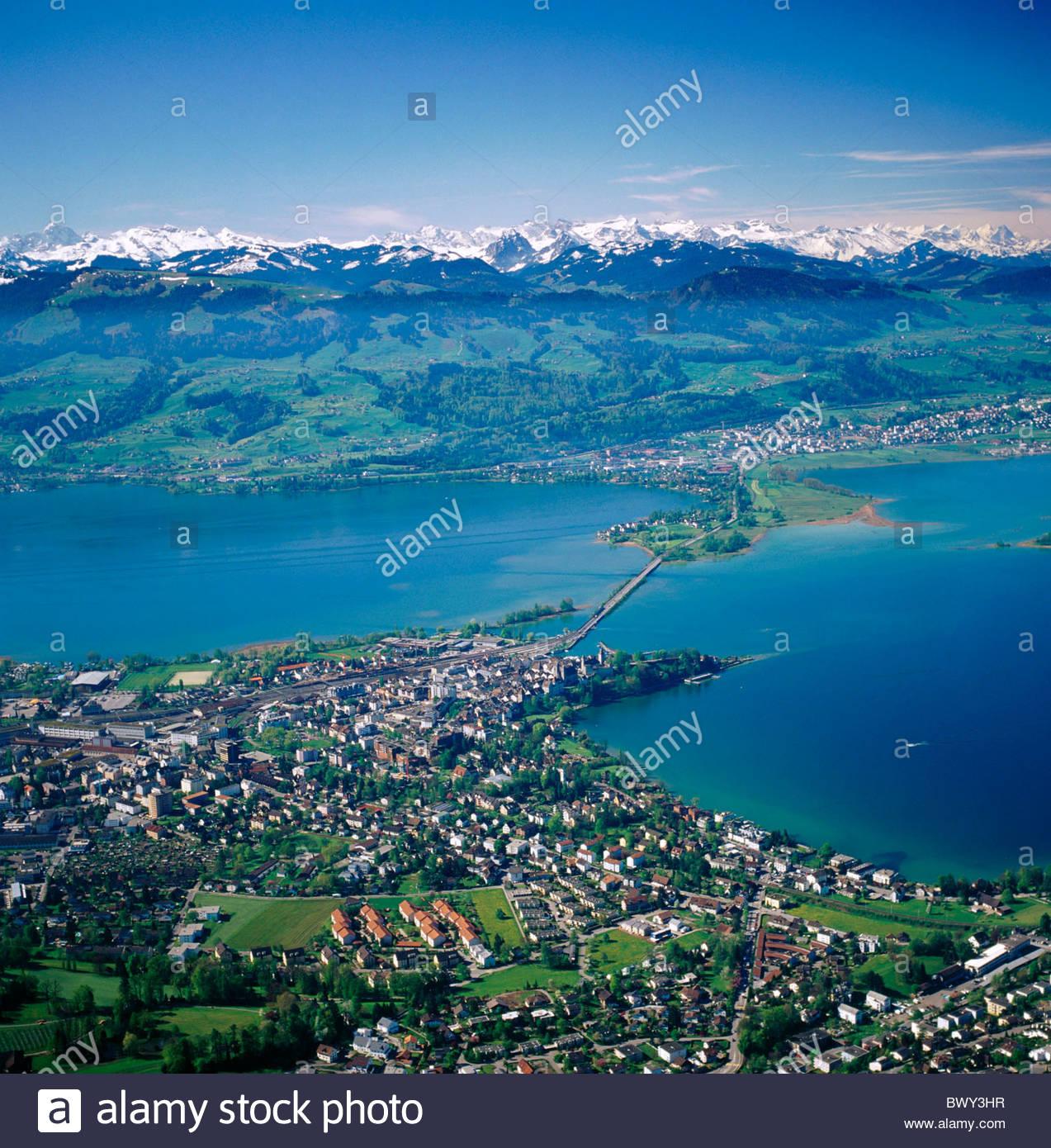 Scenery zurich lake sea alps aerial photo aerial view for Innendekoration pfaffikon zh
