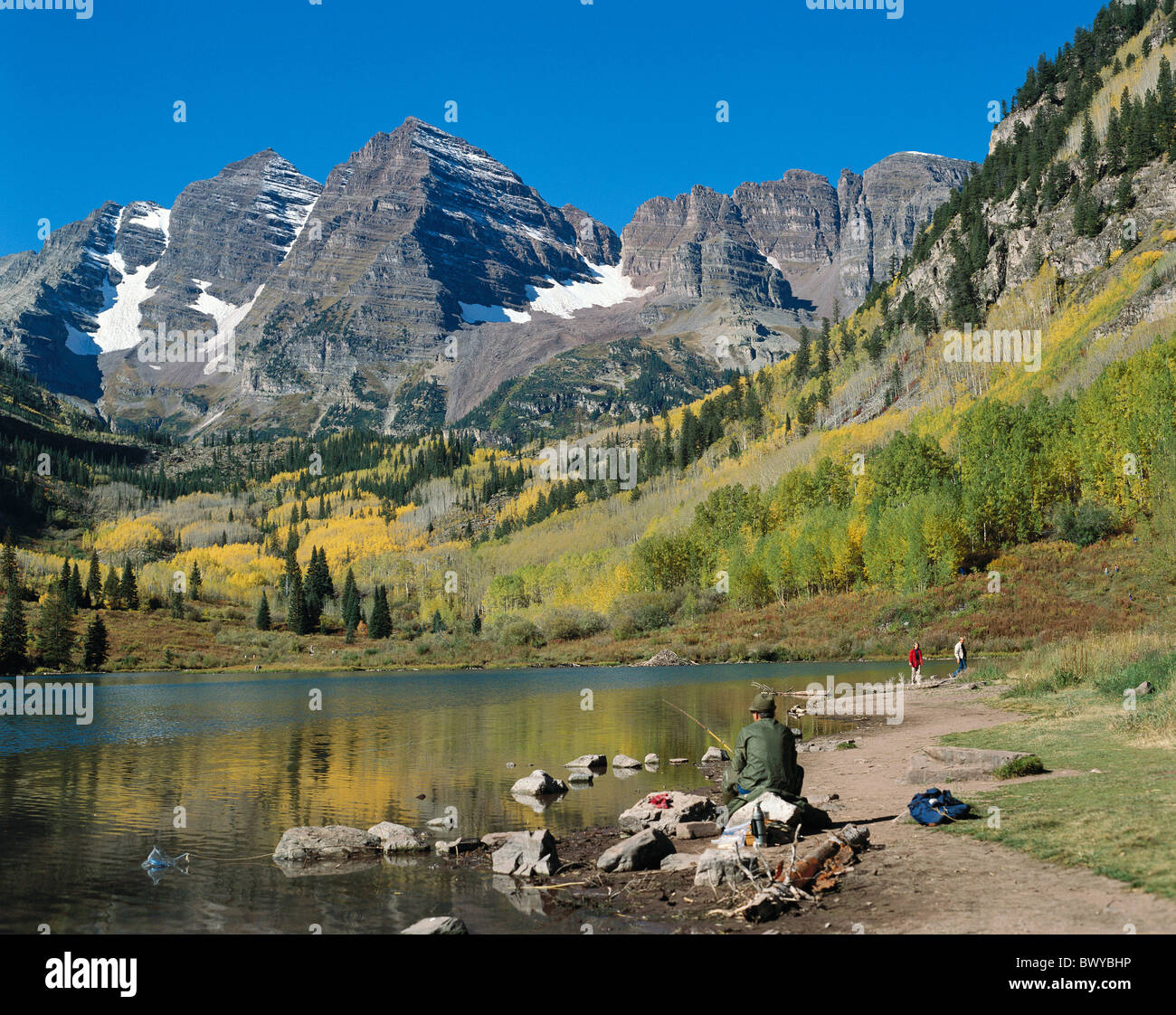 Fishing hinges fishing rods aspen trees mountains mountain for Fishing lakes in colorado springs