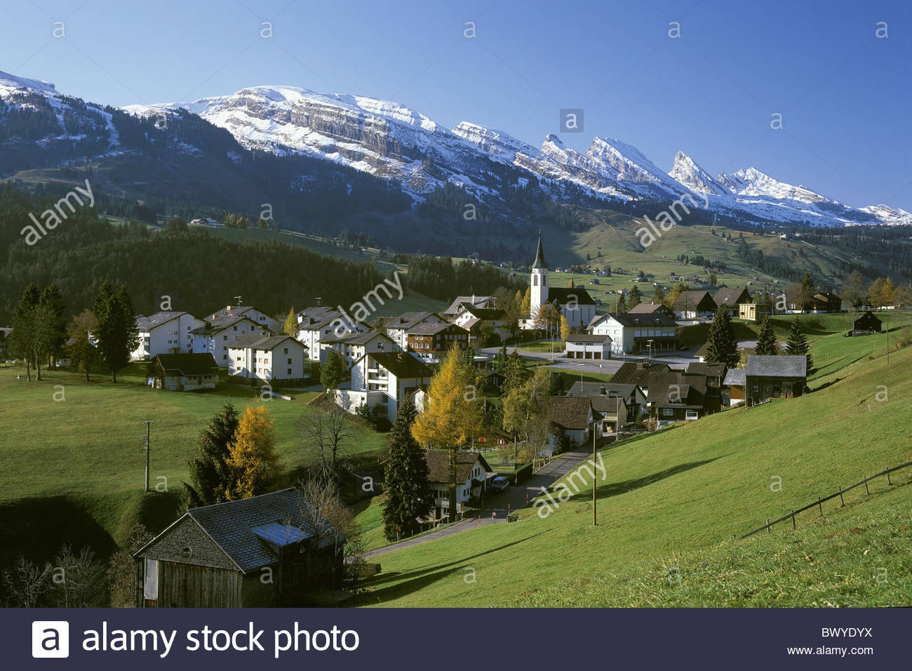 autumn canton st gallen churfirsten mountains scenery landscape stock photo royalty free image. Black Bedroom Furniture Sets. Home Design Ideas