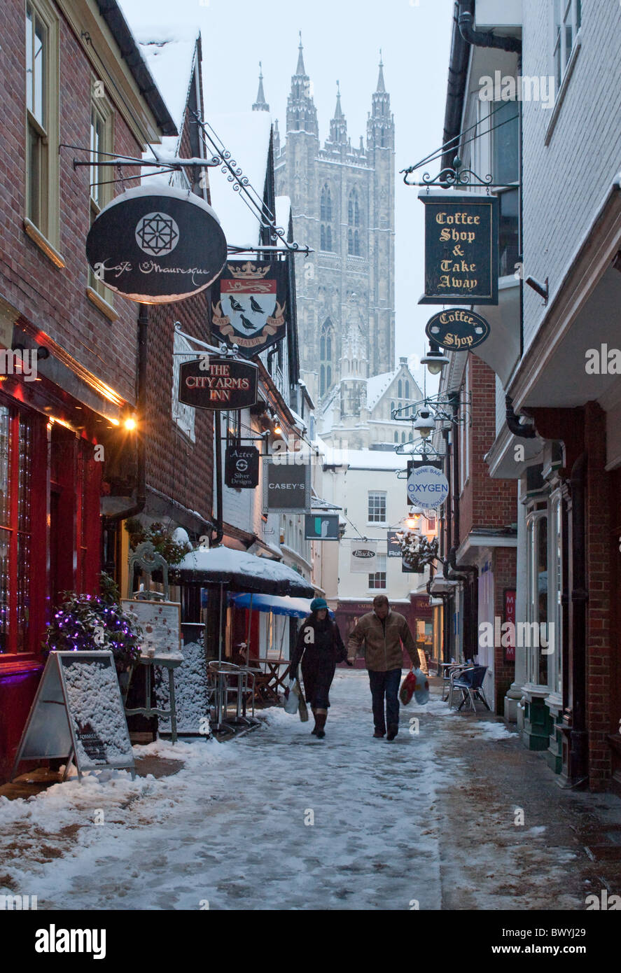 winter city lane with - photo #26