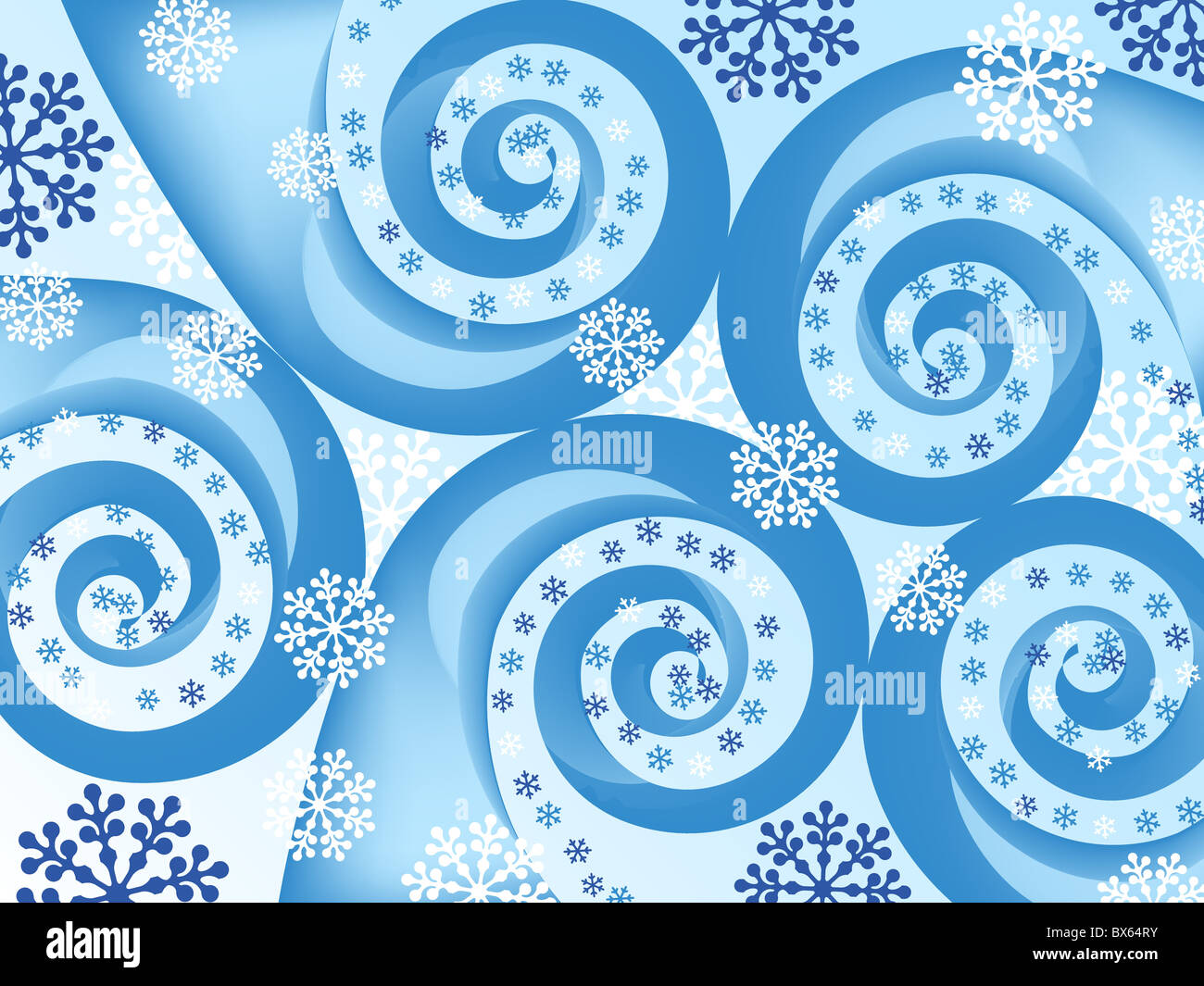 snowflake spiral abstract. holiday backgrounds. Stock Foto