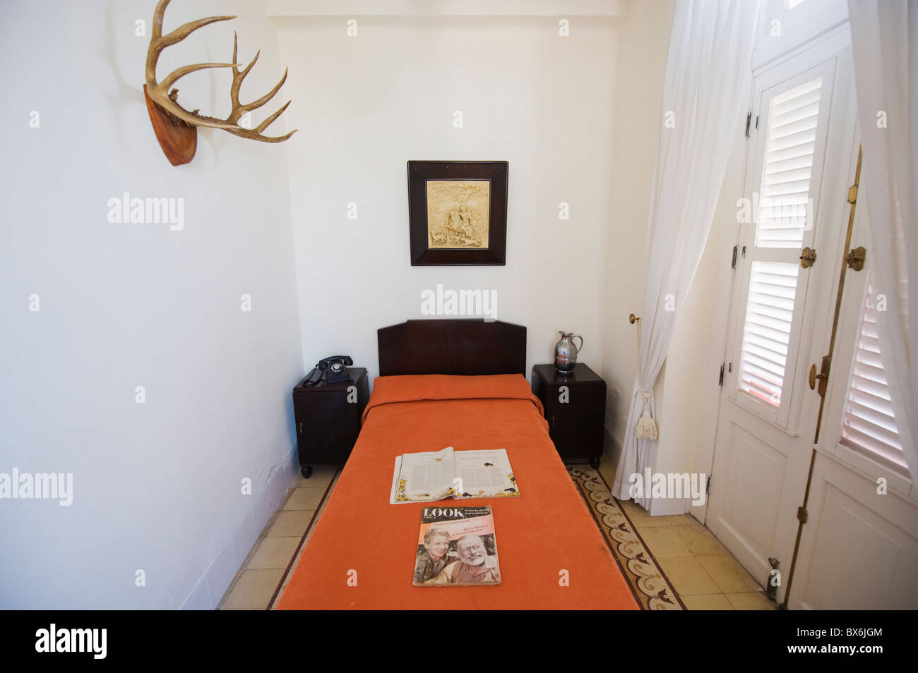 Ernest Hemingway's room, Hotel Ambos Mundos, Habana Vieja (Old Town), UNESCO World Heritage Site, Havana, Cuba, Stock Photo