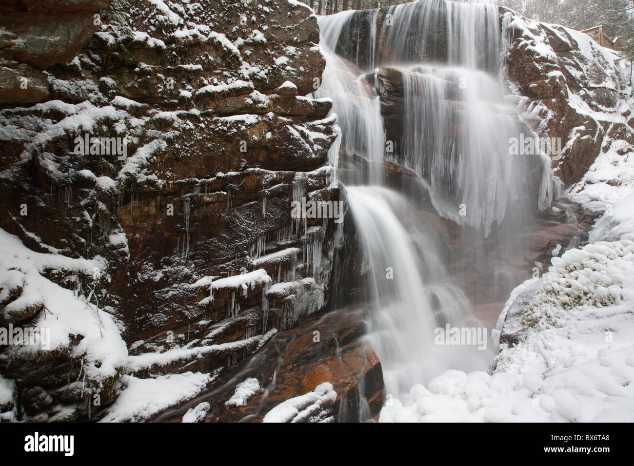 Franconia Notch State Park Avalanche Falls In Lincoln