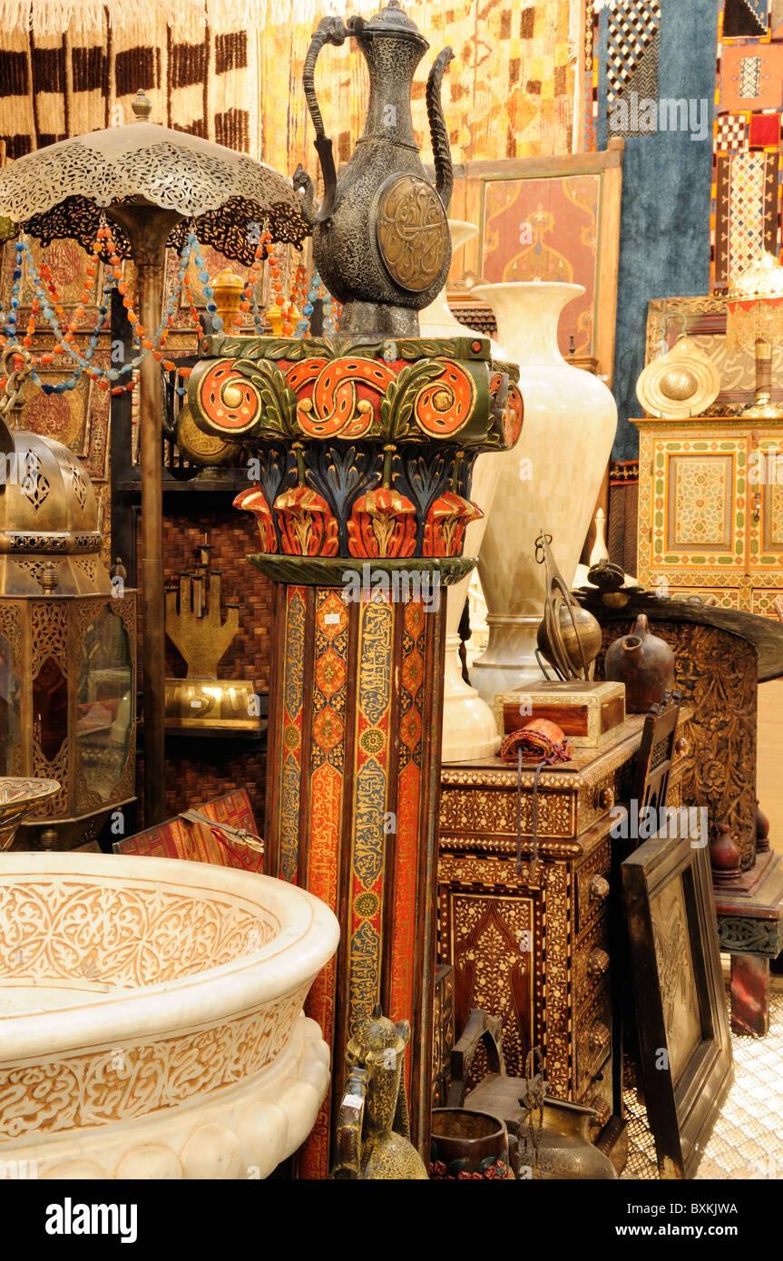 Antiques Emporium With Many Items For Sale In La Porte D