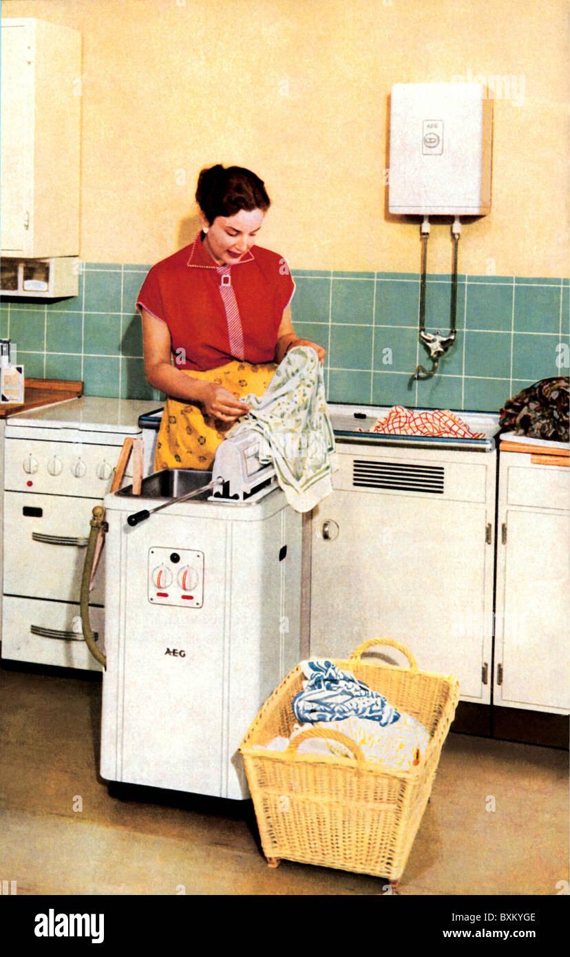 washing machine in kitchen