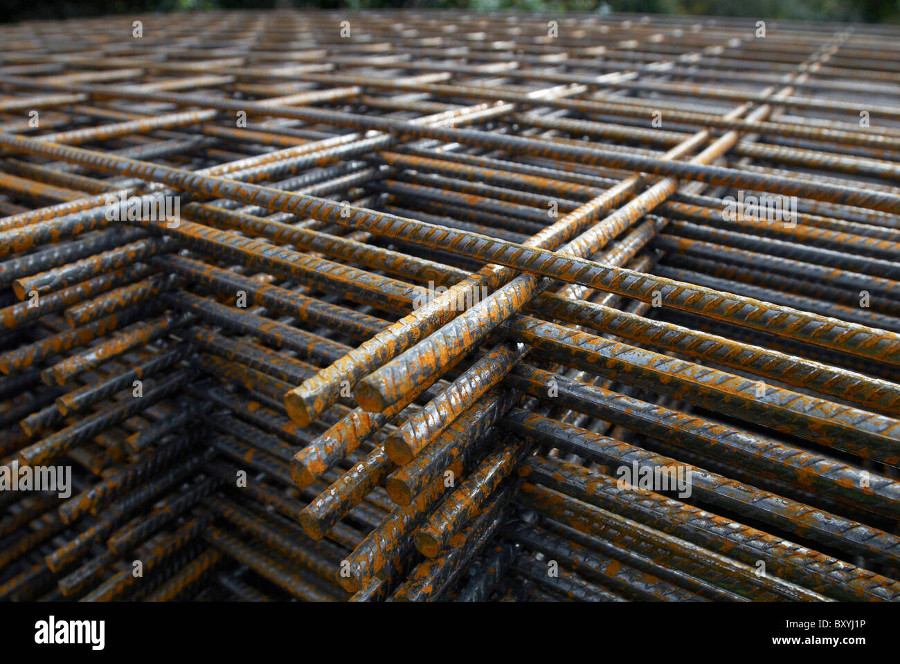 Concrete Reinforcing Steel Detailing : Concrete reinforcement steel rebar detail stock photo