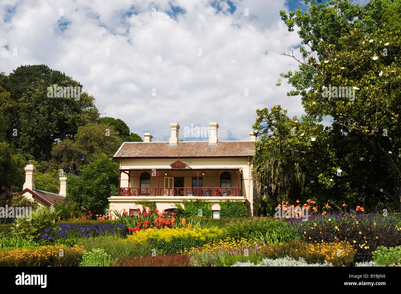 Gardens House The Official Residence At The Royal Botanic Gardens Stock Photo Royalty Free