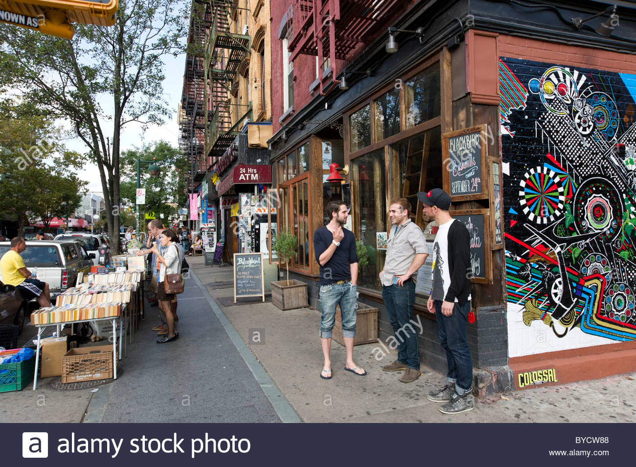 Fashionable Shopping Area In New York