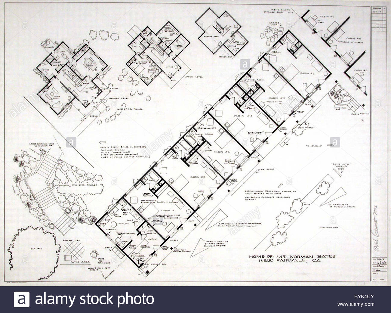 Fantasy Floor Plans Psycho Bates Motel Ever Wanted To