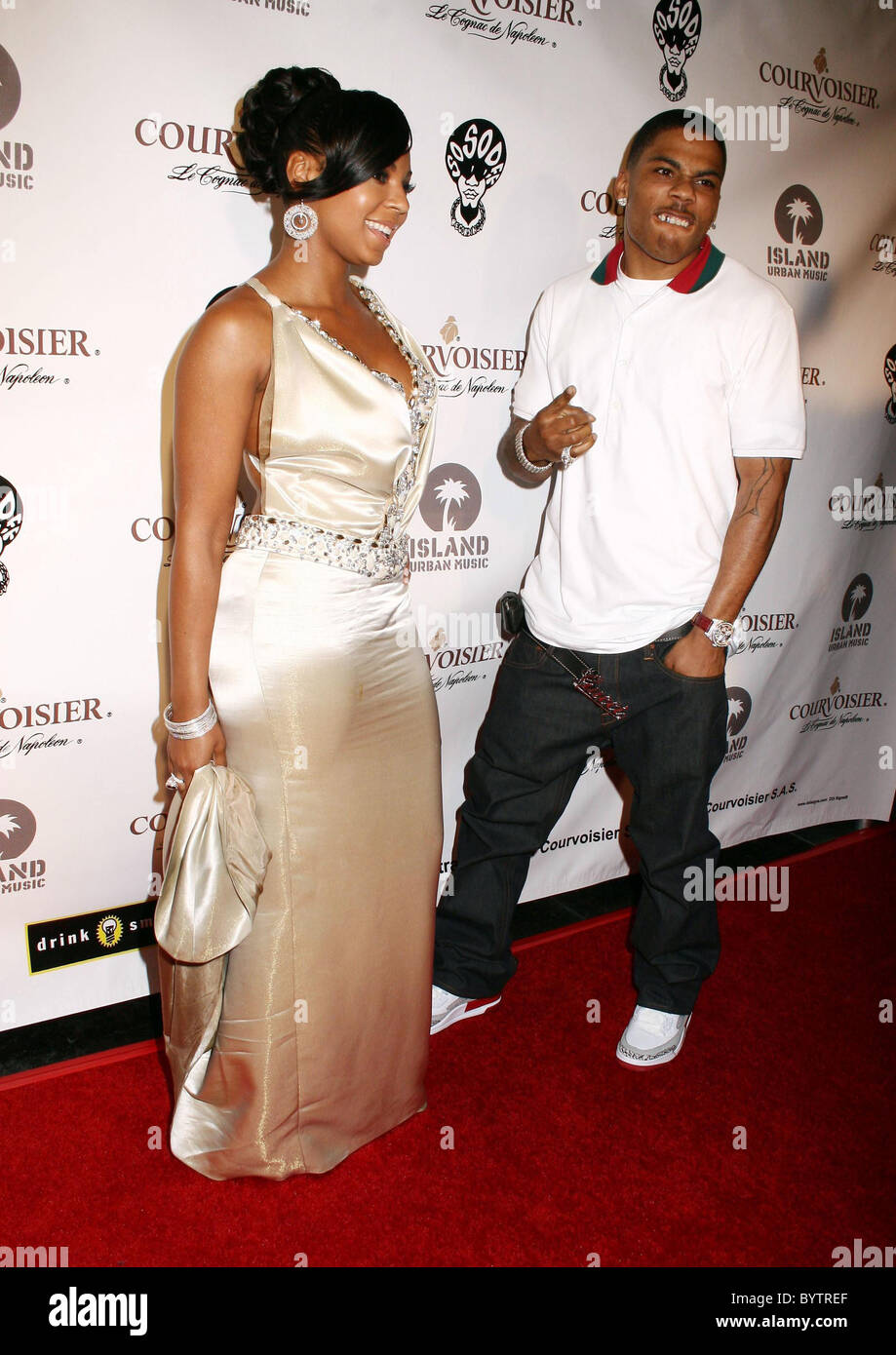 Ashanti and Nelly House of Courvoisier after party held at ...