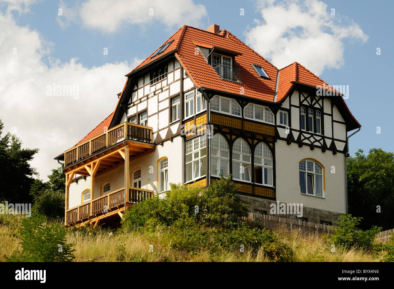 villa im fachwerkstil wernigerode deutschland mansion in the stock photo royalty free. Black Bedroom Furniture Sets. Home Design Ideas