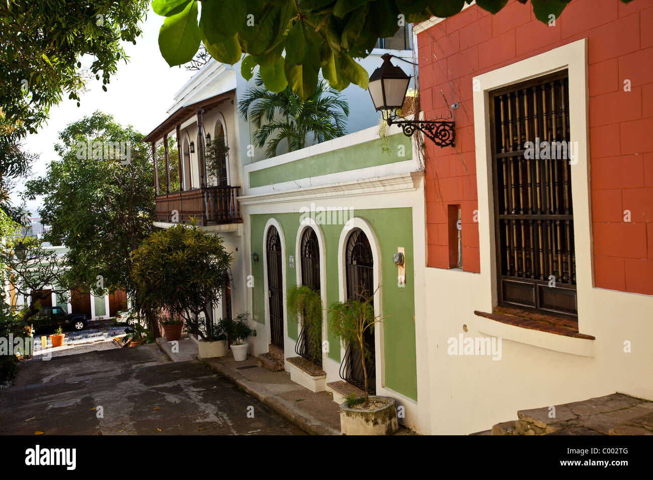 Historic traditional homes along calle hospital old san for House plans puerto rico