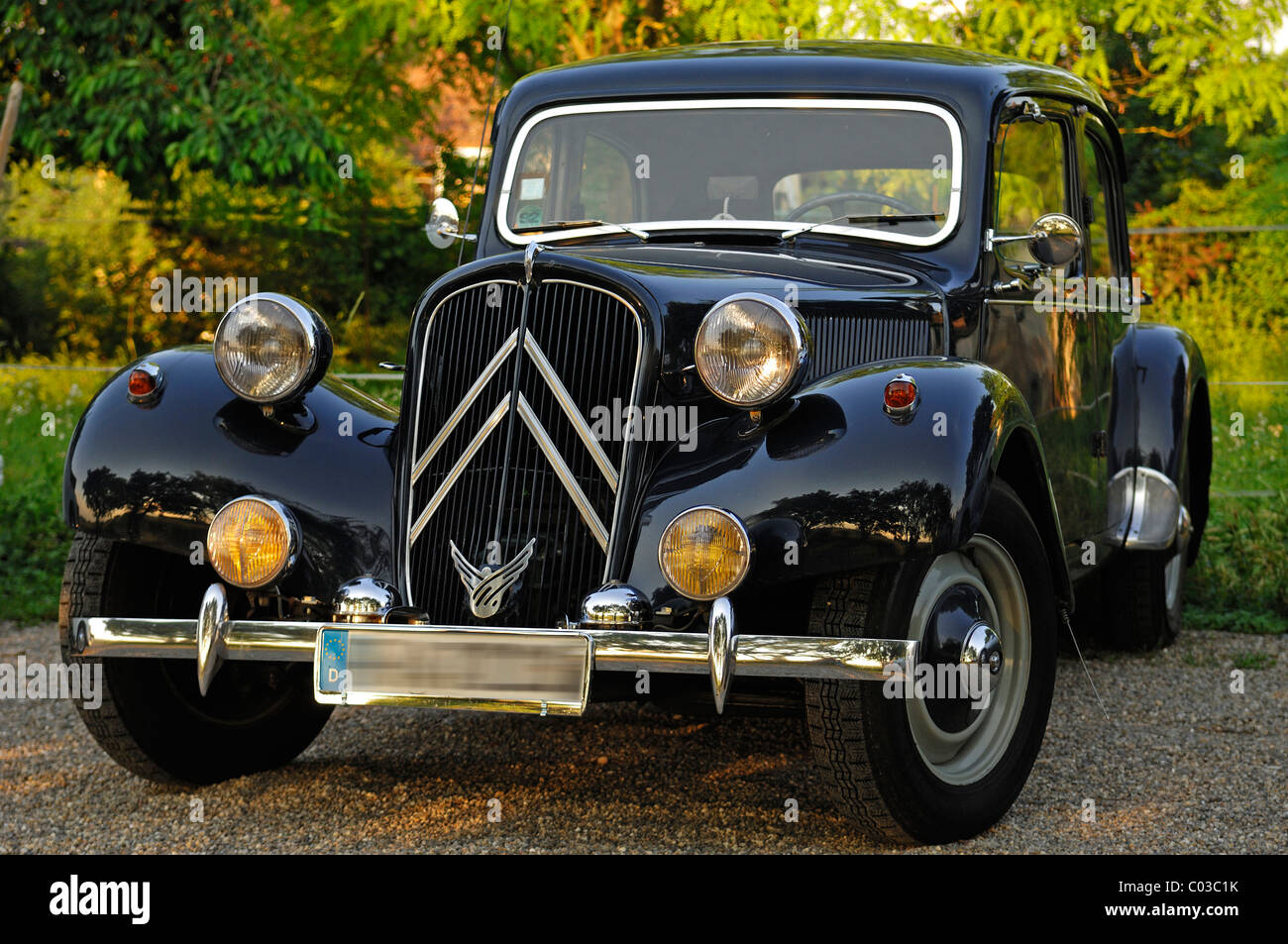 classic car  citroen 11 cv commercial  built 1955
