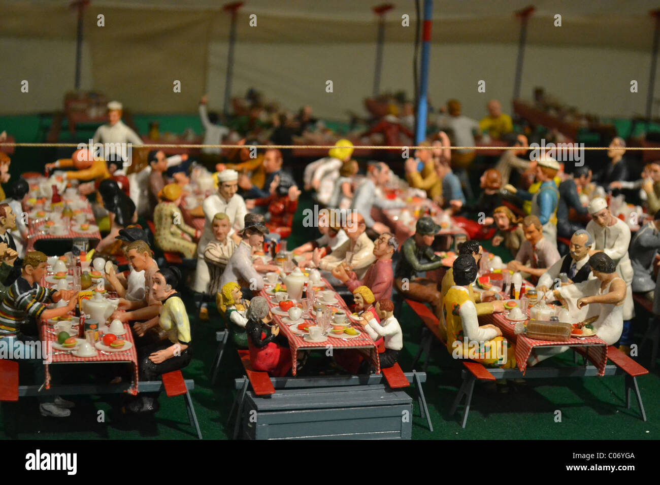 Mess Tent Of The Howard Bros. Circus Model, A Circus In