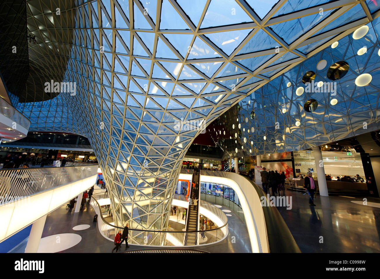 myzeil shopping mall palais quartier architect massimiliano fuksas stock photo royalty free. Black Bedroom Furniture Sets. Home Design Ideas