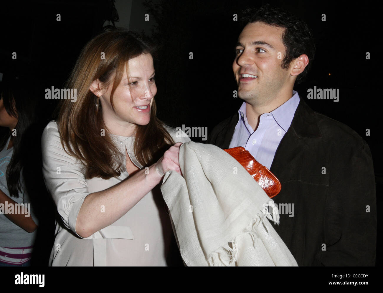 fred savage and pregnant wife jennifer lynn stone leaving stk stock photo royalty free image. Black Bedroom Furniture Sets. Home Design Ideas