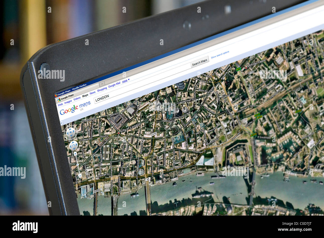 Google Earth View Of London On Google Maps On A Laptop Computer – Google Earth Map Uk