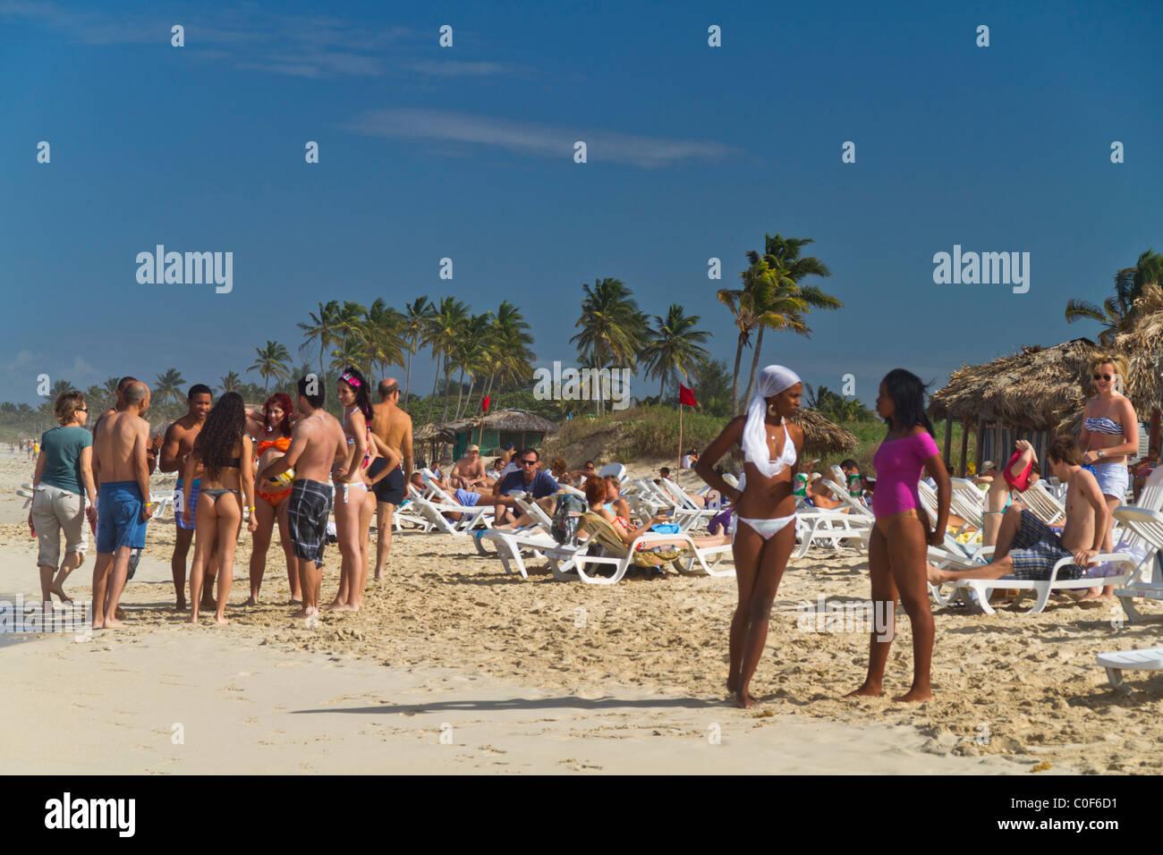 Teenager at Playa del Este, Santa Maria Del Mar, near Havanna Cuba Stock Foto