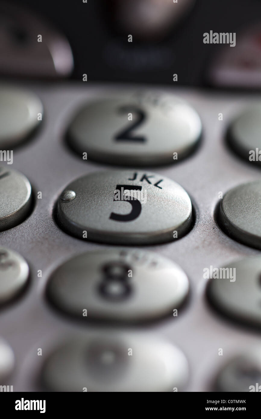 Telephone Alphabet Uk >> A closeup of a telephone keypad showing the numeral 5 in sharp focus Stockfoto, Lizenzfreies ...