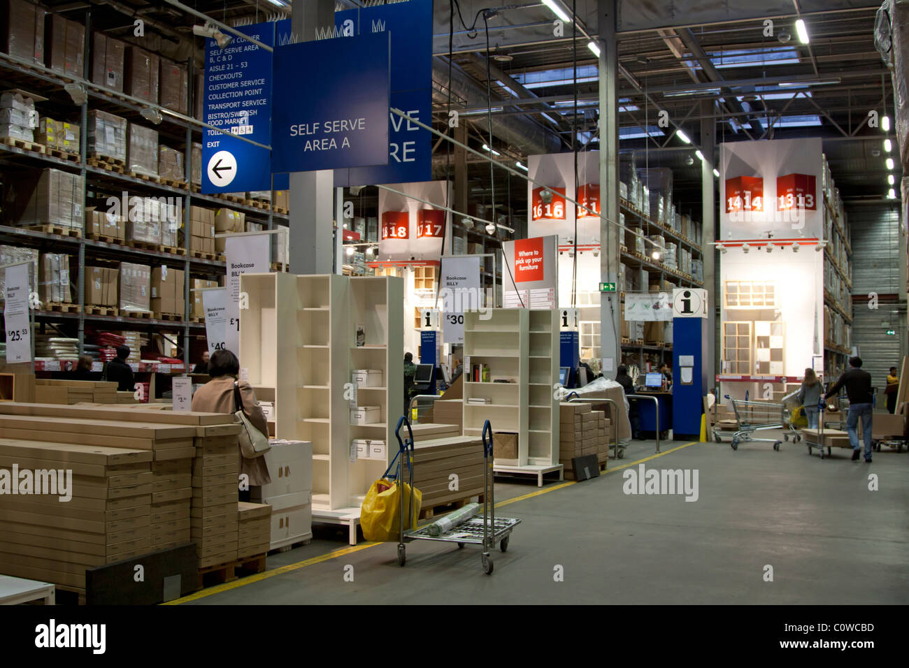 ikea self service collection isles wembley london stock photo royalty free image 34979265. Black Bedroom Furniture Sets. Home Design Ideas