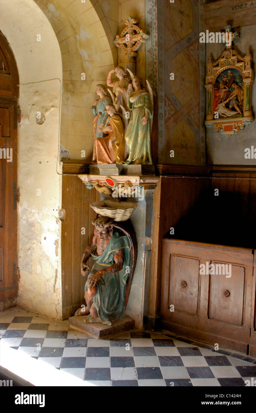Rennes le chateau france devil carving asmodeus limping - Interiors rennes ...