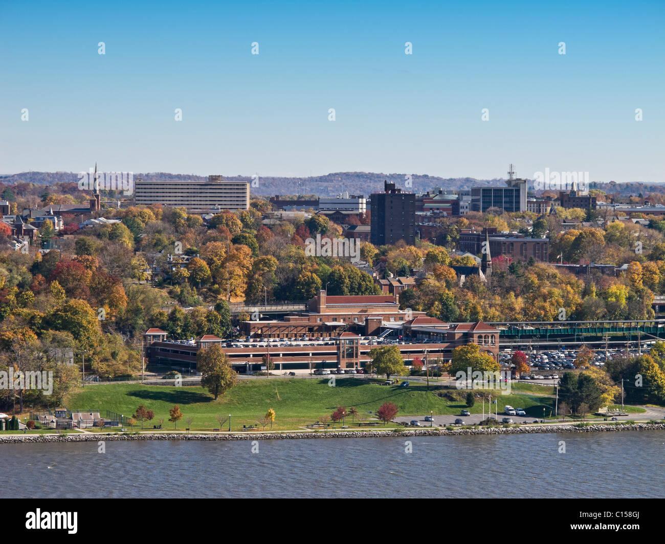 Exterior: City Of Poughkeepsie, NY Along Hudson River Showing Metro