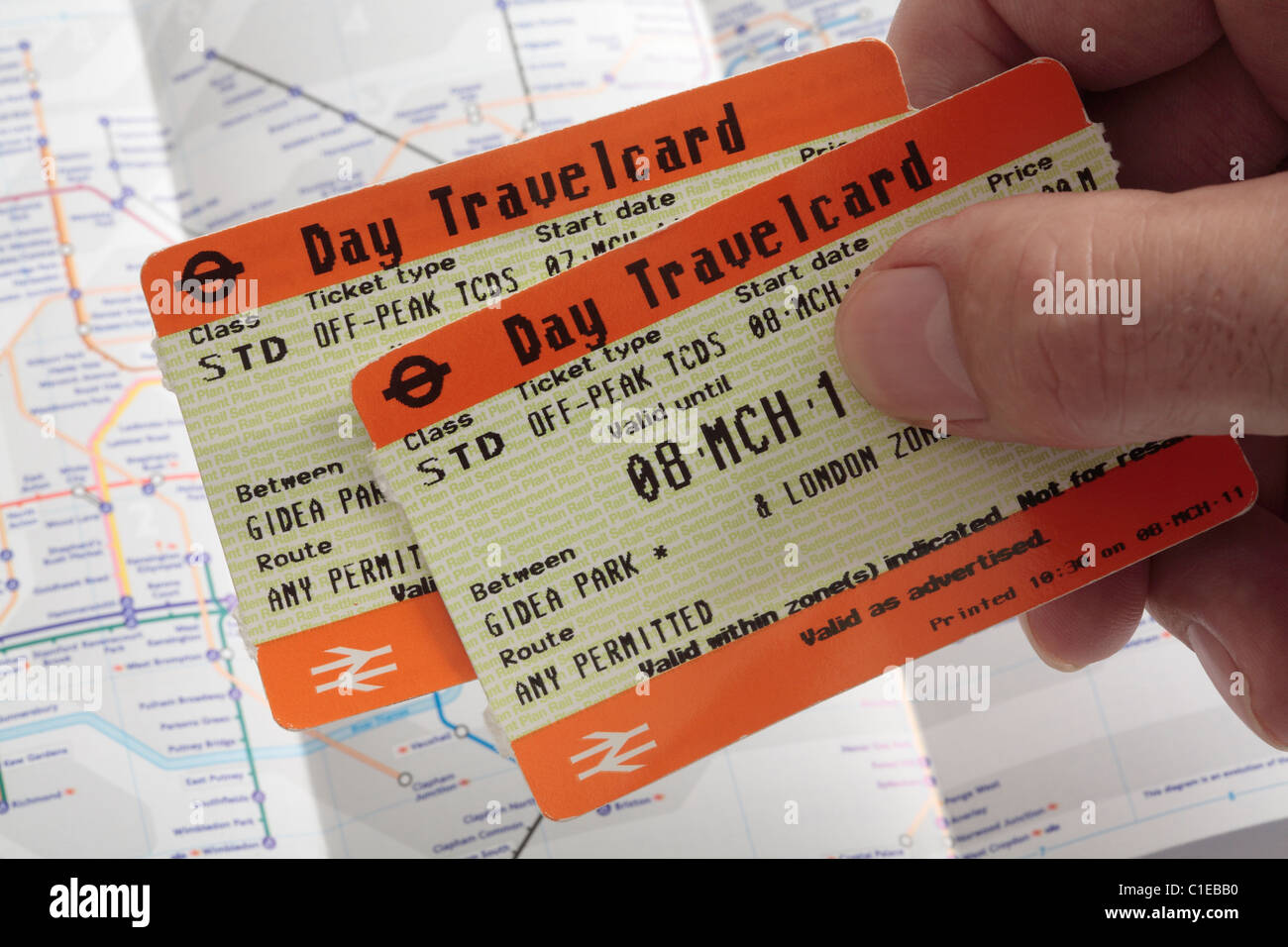 Off Peak Day Travelcards With Underground Map In