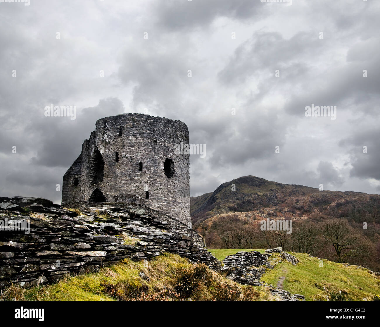 Dolbadarn castle Stock Photo