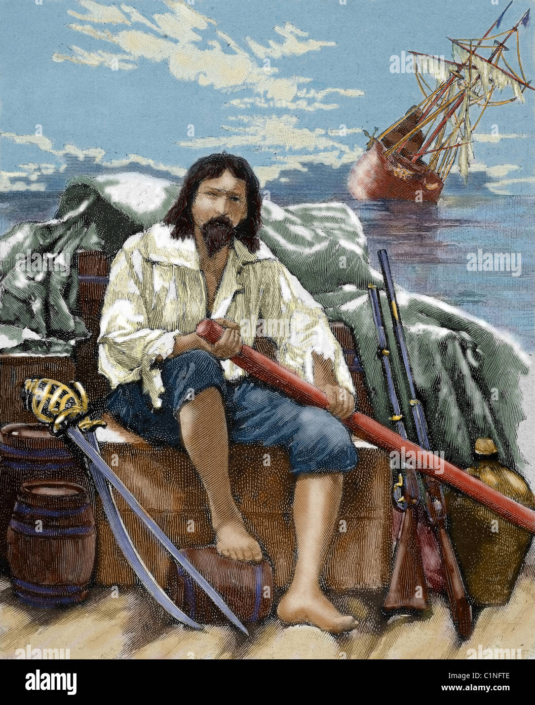 illustrating mans contradictions in daniel defoes robinson crusoe Explore 'first edition of daniel defoe's robinson crusoe, 1719' on the british  it  is the escapist adventure of a young man who braves shipwrecks, pirates and.