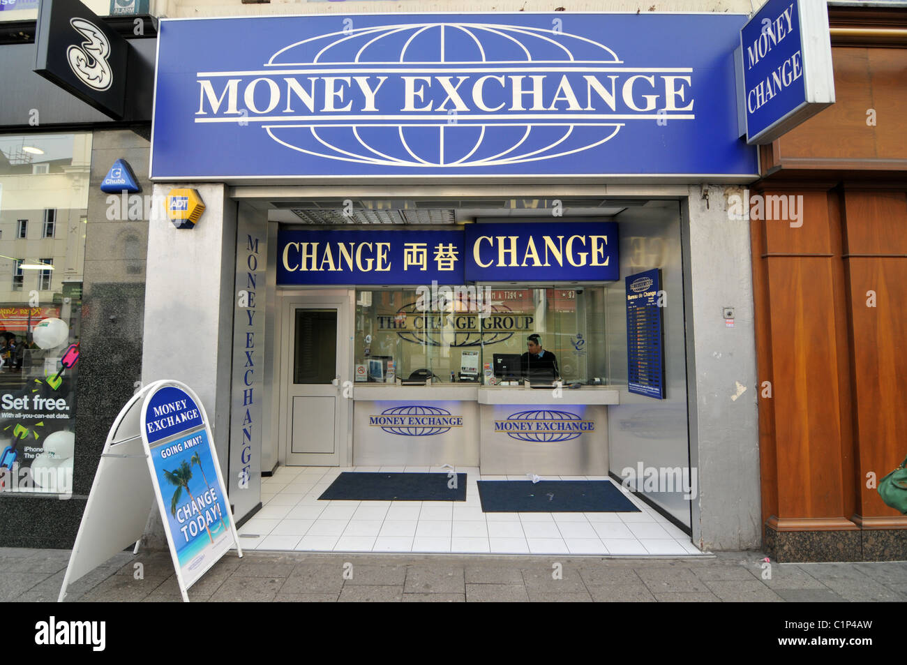 Money exchange cambio bureau de change travel cash money for Bureau change