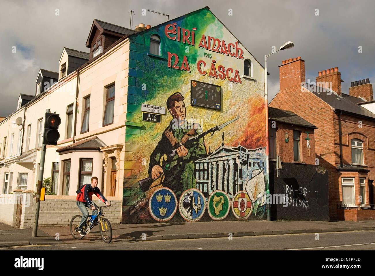United kingdom northern ireland ulster belfast mural for Easter rising mural