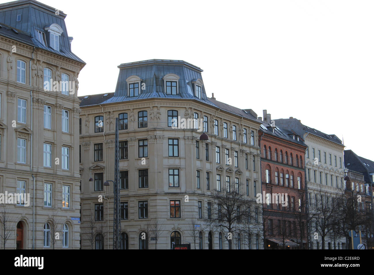Old buildings in Østerbro district in Copenhagen, Denmark Stock Photo, Royalty Free Image ...