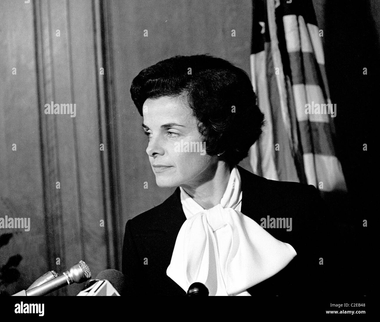 President of the San Francisco board of Supervisors, Dianne Feinstein becomes San Francisco California Stock Photo