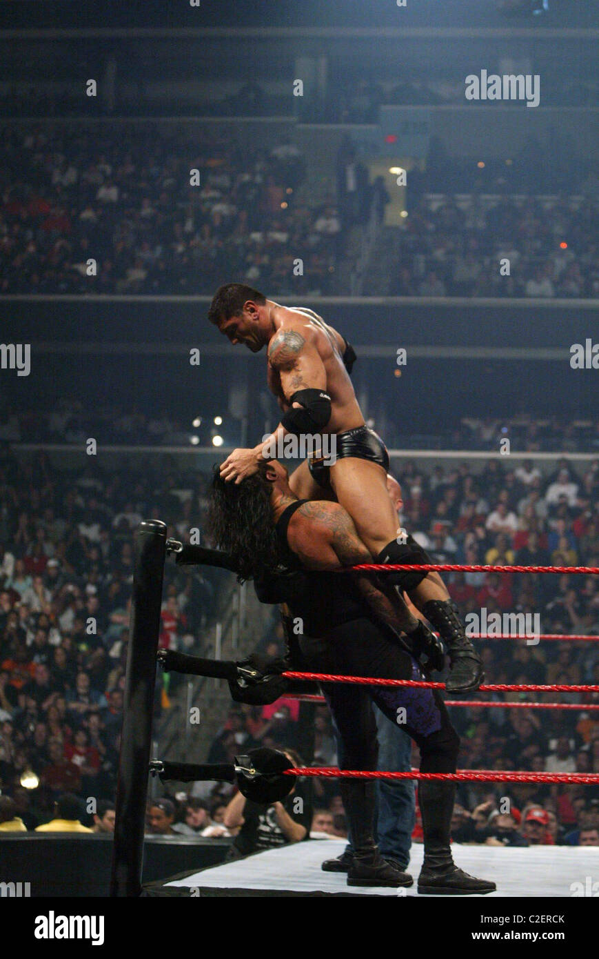 batista and the undertaker wwe presents cyber sunday a live pay per stock photo royalty free. Black Bedroom Furniture Sets. Home Design Ideas