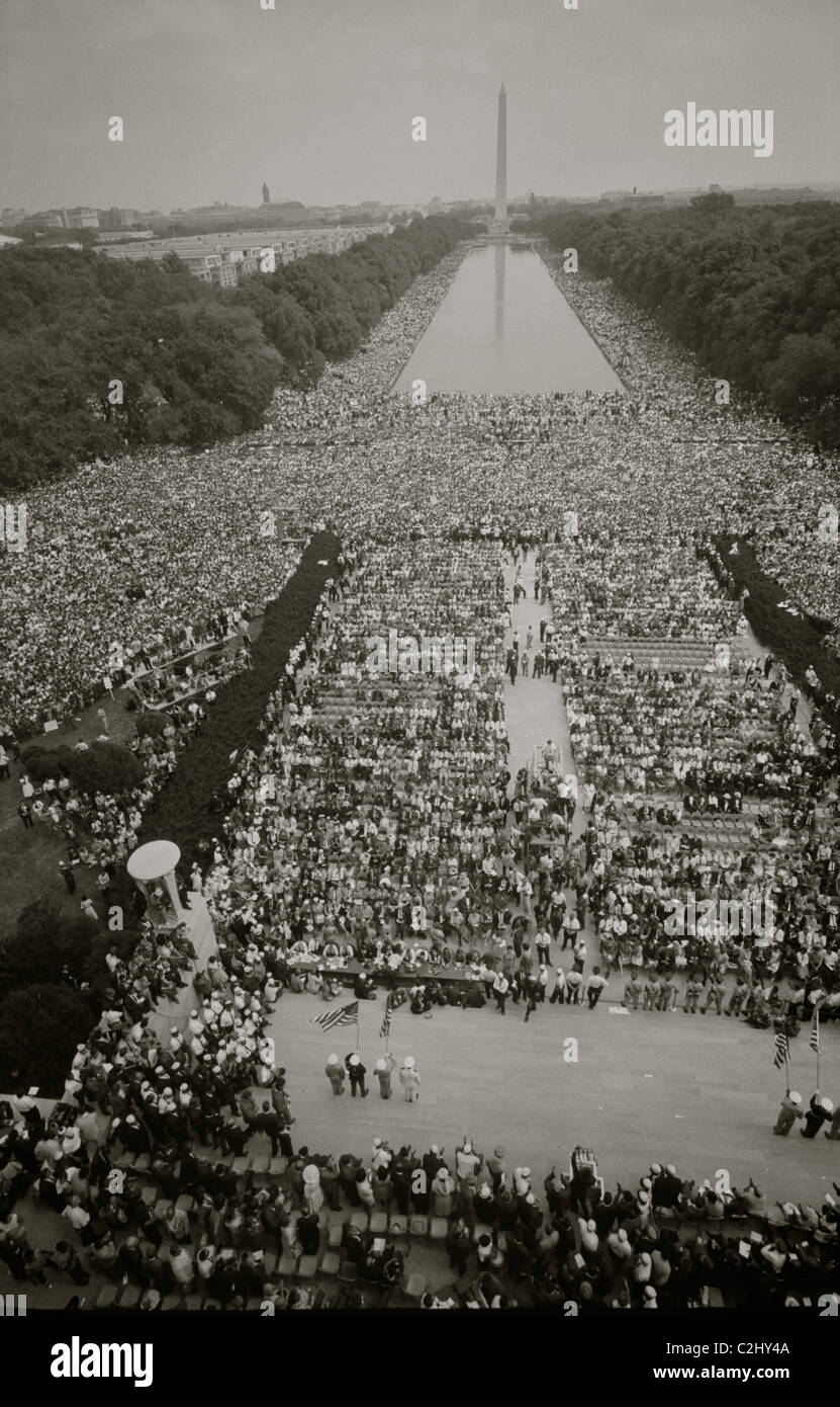 March on Washington at the Mall Stock Foto
