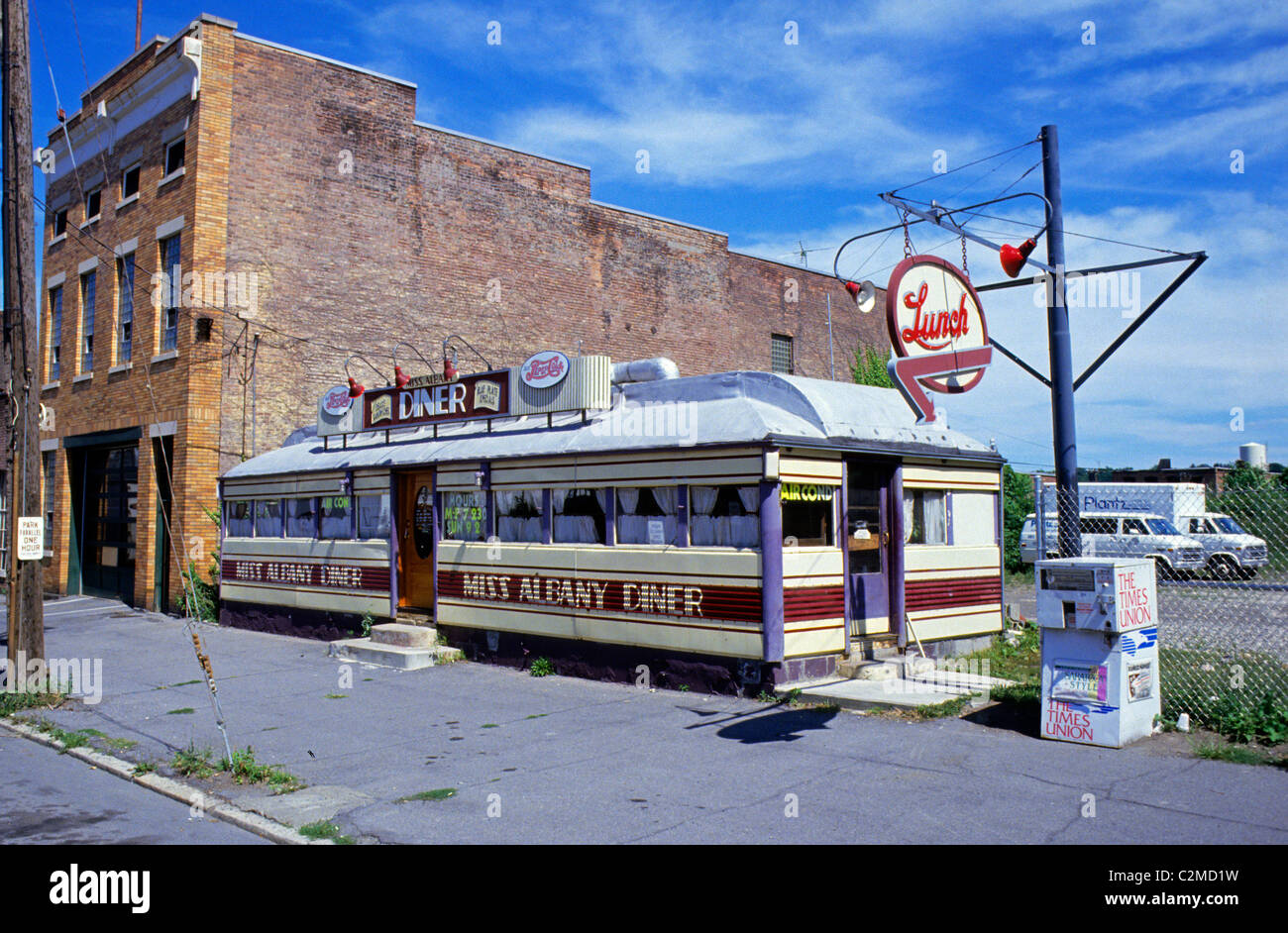 miss albany diner in albany new york a 1941 silk city diner stock photo royalty free image. Black Bedroom Furniture Sets. Home Design Ideas