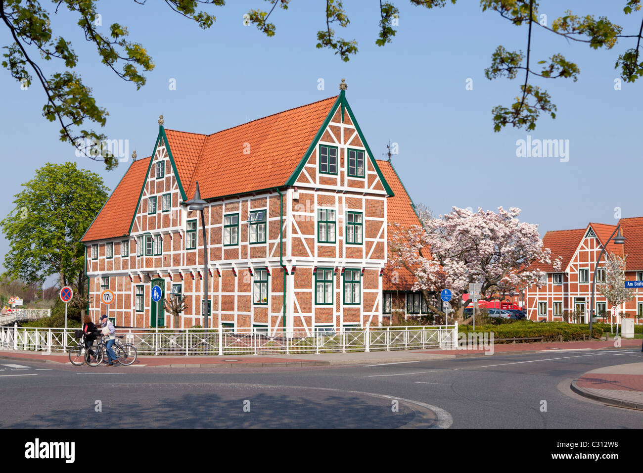 town hall in jork altes land old land near hamburg lower saxony stock photo royalty free. Black Bedroom Furniture Sets. Home Design Ideas