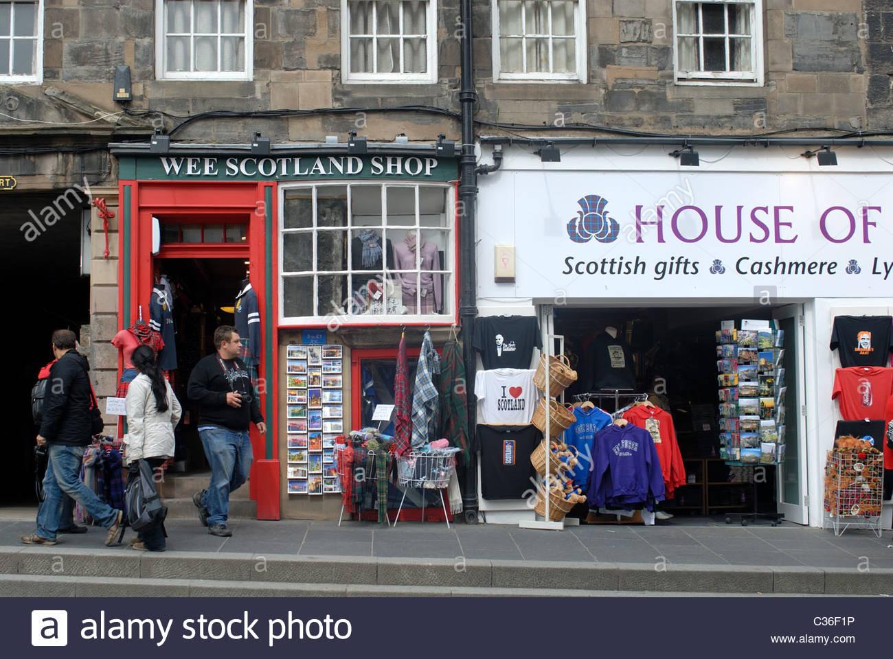 Scottish shops edinburgh royal mile webcam
